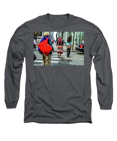 Long Sleeve T-Shirt featuring the photograph Crossing by Karol Livote