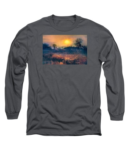 Crossing Through The Meadows Long Sleeve T-Shirt by John Rivera