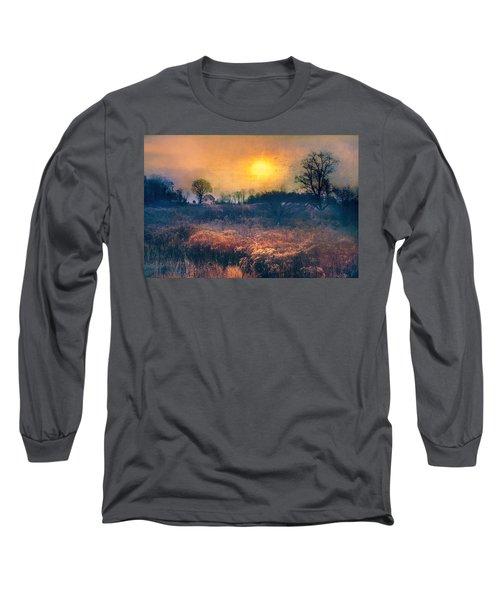 Crossing Through The Meadows Long Sleeve T-Shirt