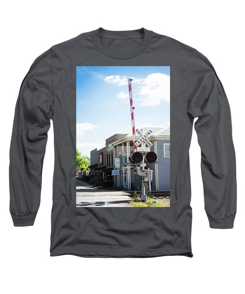 Long Sleeve T-Shirt featuring the photograph Crossings In Old Town Helena by Parker Cunningham