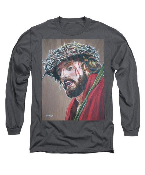 Crown Of Thorns Long Sleeve T-Shirt by Bryan Bustard