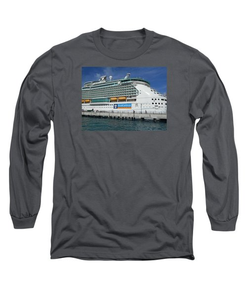 Cruise Ship Long Sleeve T-Shirt by Kathleen Peck