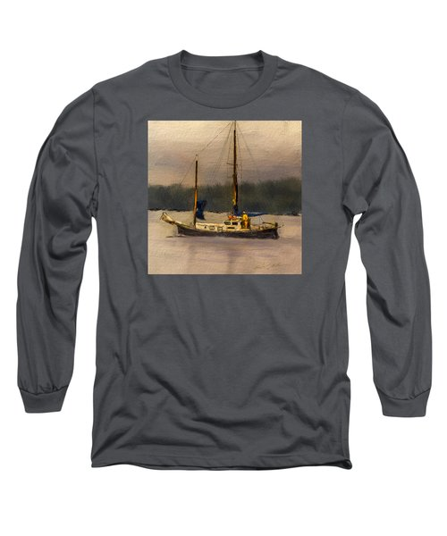 Crusing The Sound Long Sleeve T-Shirt by Dale Stillman