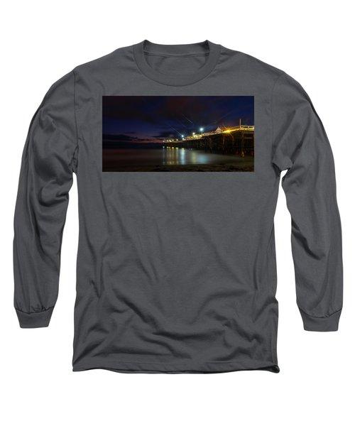 Crystal Beach Pier Blue Hour  Long Sleeve T-Shirt