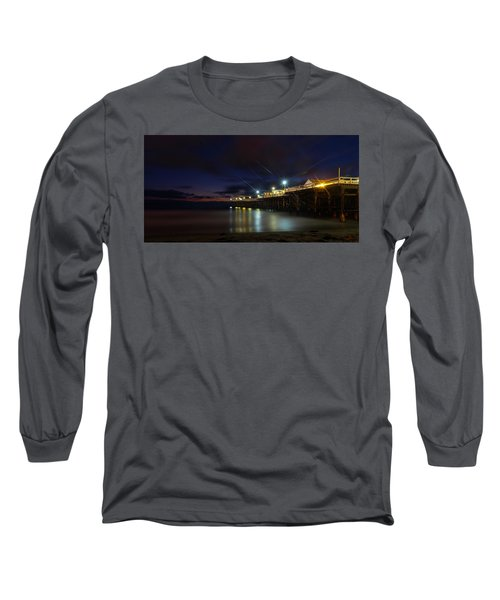 Long Sleeve T-Shirt featuring the photograph Crystal Beach Pier Blue Hour  by James Sage
