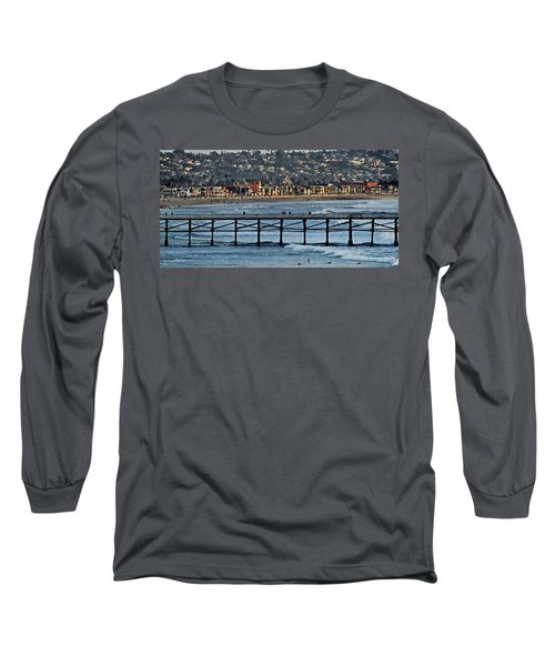 Crystal Pier - Mission Beach - Big Dipper Long Sleeve T-Shirt