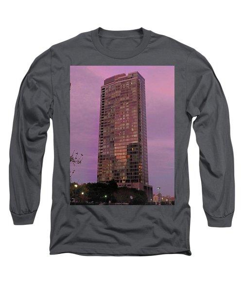 Crystal Skyscraper Sunset Long Sleeve T-Shirt