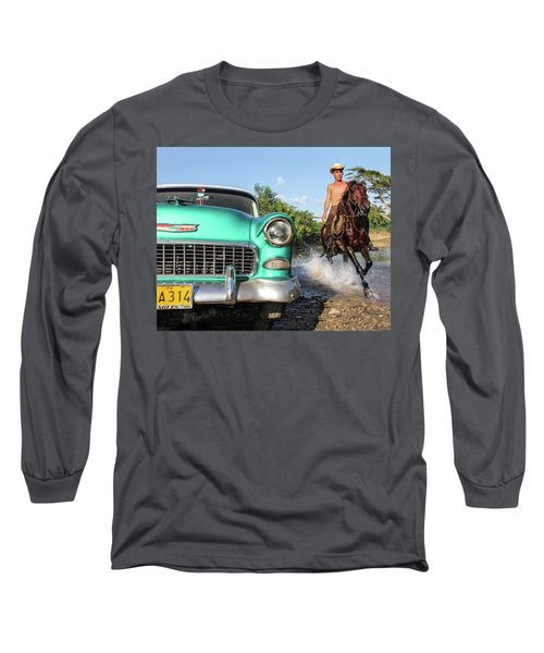 Cuban Horsepower Long Sleeve T-Shirt