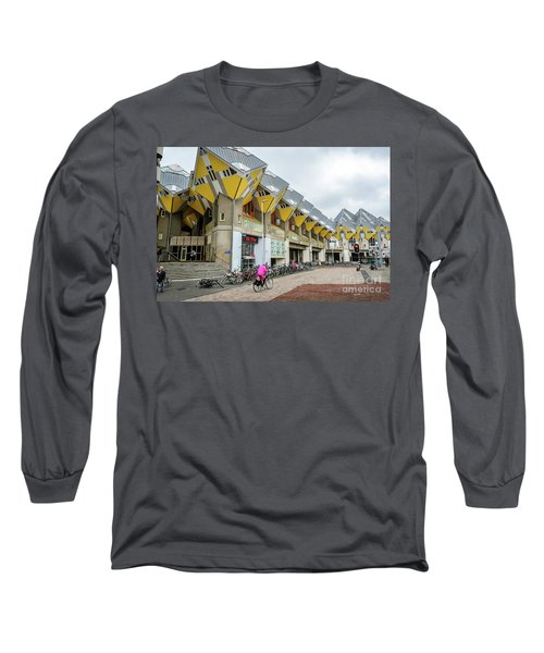 Long Sleeve T-Shirt featuring the photograph Cube Houses In Rotterdam by RicardMN Photography