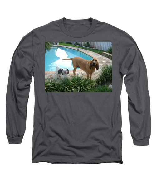 Cujo And Lucky Long Sleeve T-Shirt by Val Oconnor