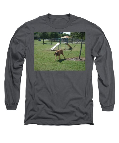 Cujo Running At The Park Long Sleeve T-Shirt by Val Oconnor