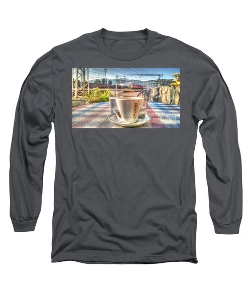 Cup Of Coffee On A Sunny Day Long Sleeve T-Shirt