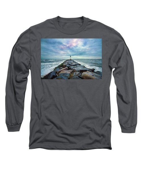 Cupsogue Clouds At Dusk Long Sleeve T-Shirt