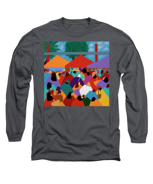 Curacao Market Long Sleeve T-Shirt