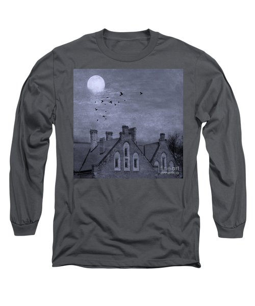 Long Sleeve T-Shirt featuring the photograph Curse Of Manor House by Juli Scalzi