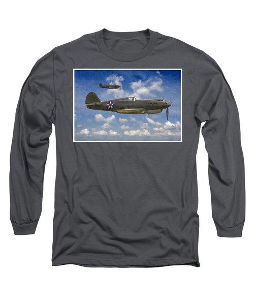 Curtis P-40 Warhawks Long Sleeve T-Shirt by Kai Saarto