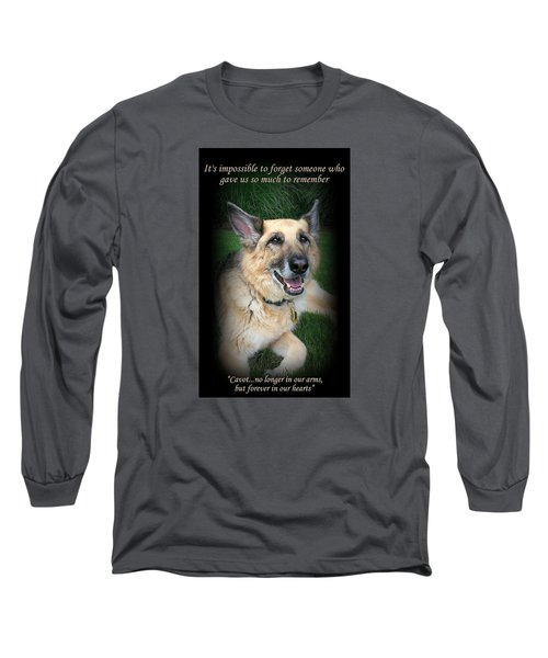 Custom Paw Print Cavot Long Sleeve T-Shirt
