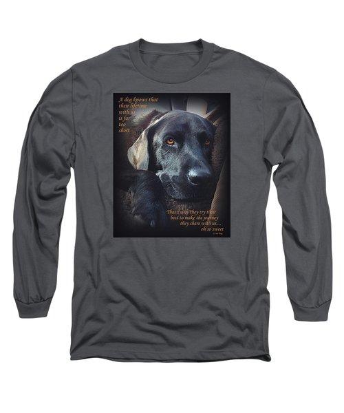Custom Paw Print Midnight Oh So Sweet Long Sleeve T-Shirt