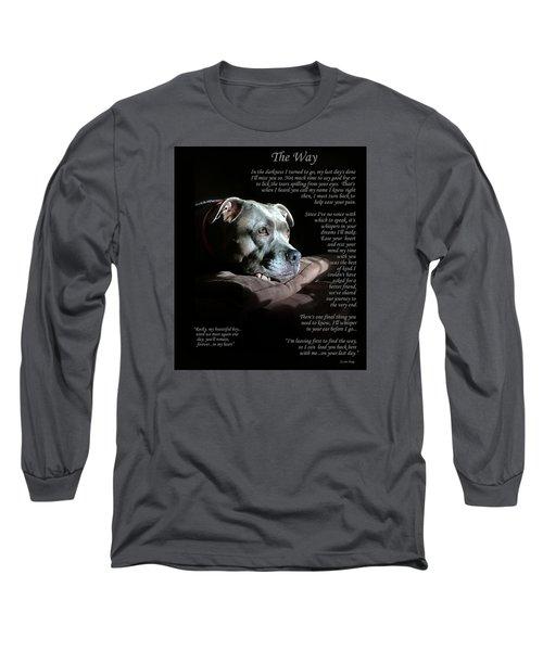 Custom Paw Print Rocky Long Sleeve T-Shirt