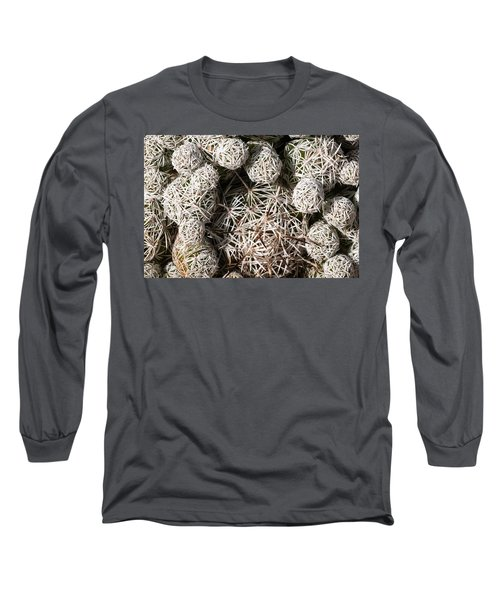 Long Sleeve T-Shirt featuring the photograph Cute Cactus Ball by Catherine Lau
