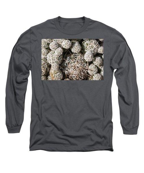 Cute Cactus Ball Long Sleeve T-Shirt by Catherine Lau