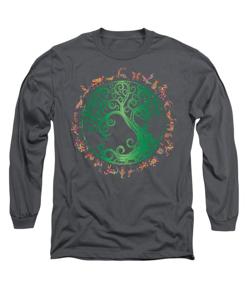 Cycle Of Life Long Sleeve T-Shirt by Martinus Sumbaji