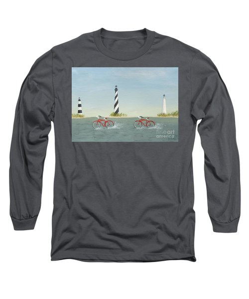 Cycling The Pamlico Sound Long Sleeve T-Shirt