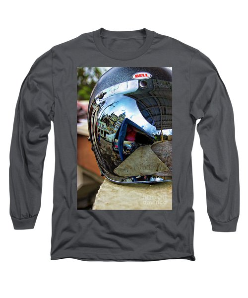 Long Sleeve T-Shirt featuring the photograph Cyclist's View Of Biblian Church by Al Bourassa