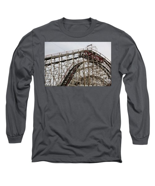 Cyclone Roller Coaster Coney Island Ny Long Sleeve T-Shirt