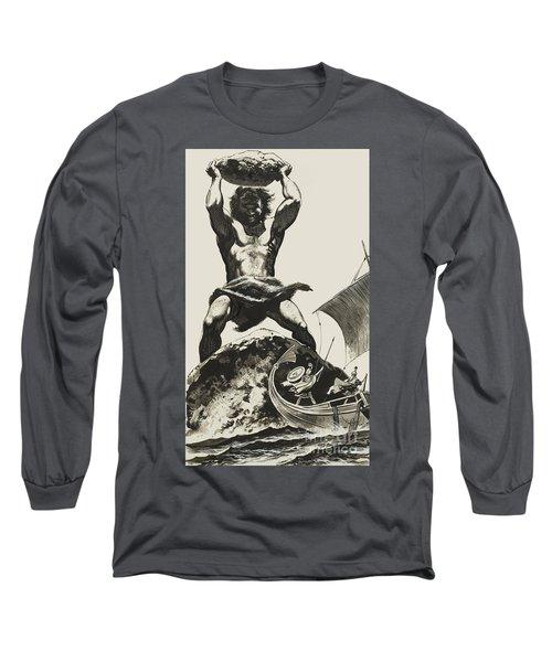Cyclops Long Sleeve T-Shirt by Angus McBride
