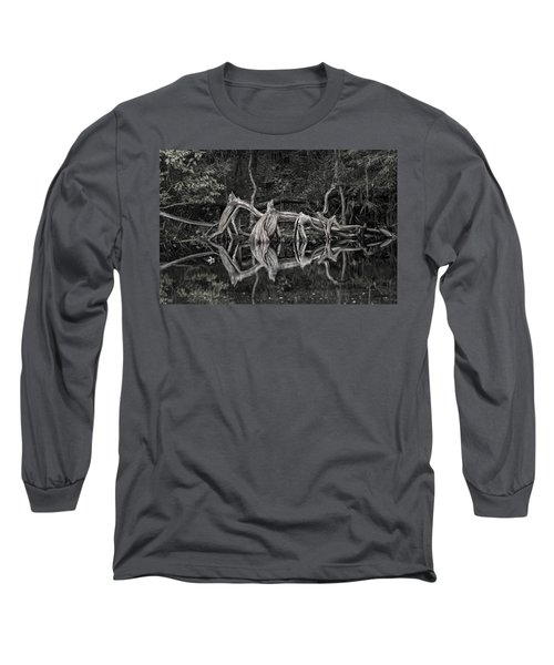 Long Sleeve T-Shirt featuring the photograph Cypress Design by Steven Sparks