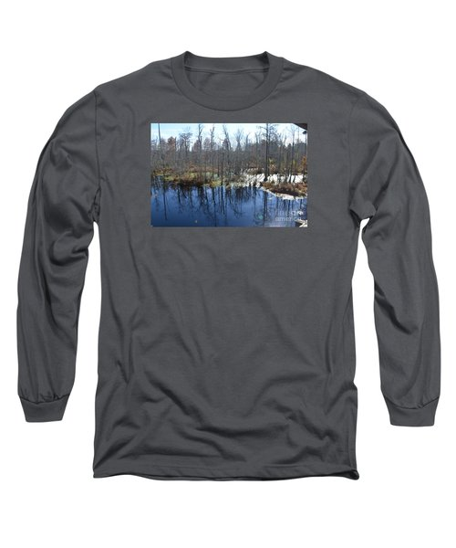 Cypress Swamp Long Sleeve T-Shirt by Gordon Mooneyhan