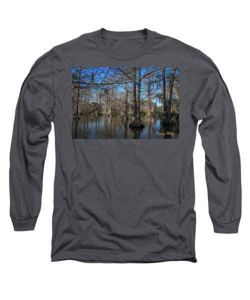 Long Sleeve T-Shirt featuring the photograph Cyprus Lake 2 by Gregory Daley  PPSA