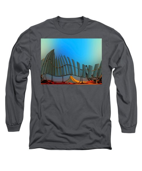 Da Vinci's Outpost Long Sleeve T-Shirt by Wendy J St Christopher