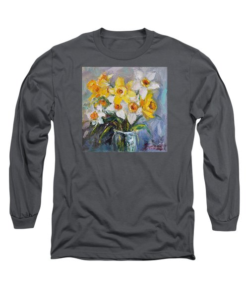 Long Sleeve T-Shirt featuring the painting Daffodil In Spring  by Jennifer Beaudet