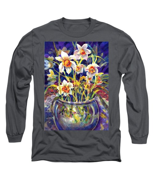 Daffodils And Lace Long Sleeve T-Shirt