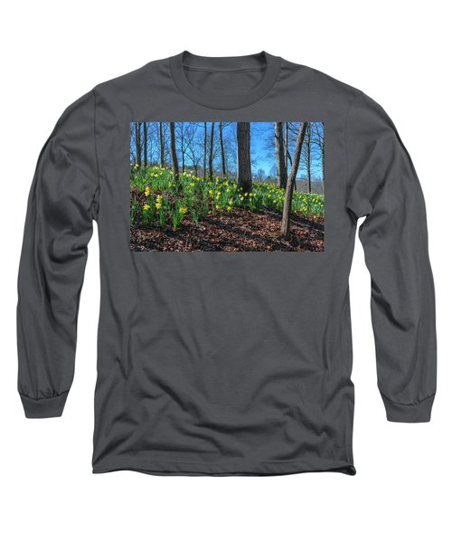 Daffodils On Hillside Long Sleeve T-Shirt