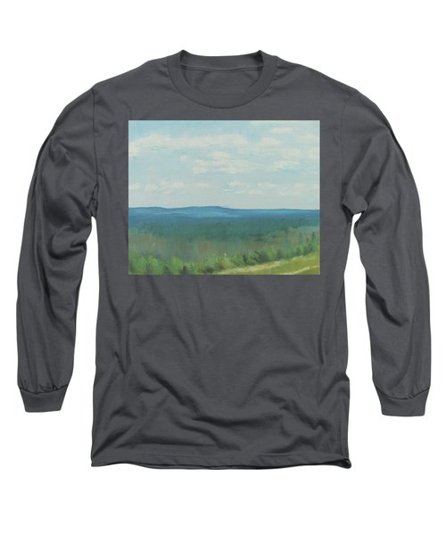 Dagrar Over Salenfjallen- Shifting Daylight Over Distant Horizon 3 Of 10_0029 50x40 Cm Long Sleeve T-Shirt
