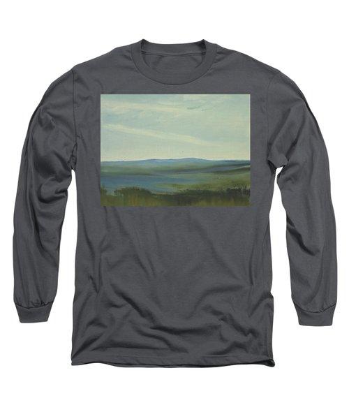 Dagrar Over Salenfjallen- Shifting Daylight Over Distant Horizon 6 Of 10 Long Sleeve T-Shirt