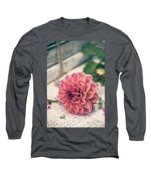 Dahlia Bloom Long Sleeve T-Shirt