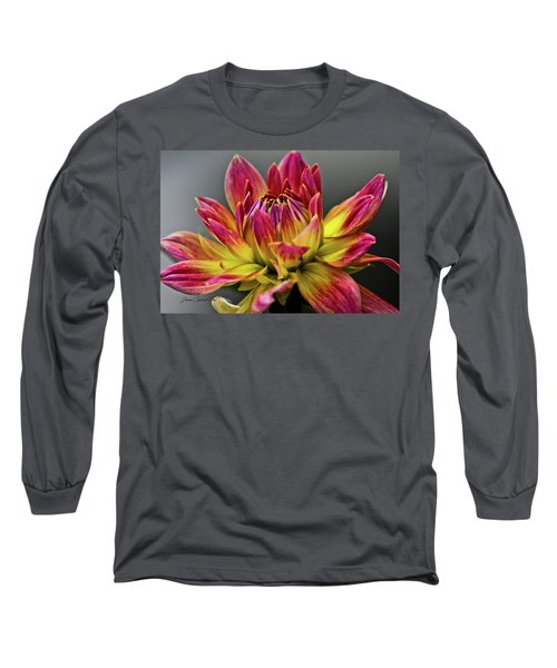 Dahlia Flame Long Sleeve T-Shirt by Joann Copeland-Paul