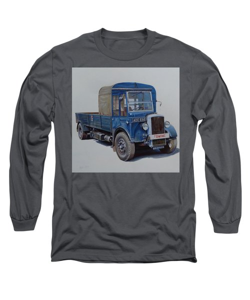 Long Sleeve T-Shirt featuring the painting Daimler Wrecker Btc by Mike Jeffries