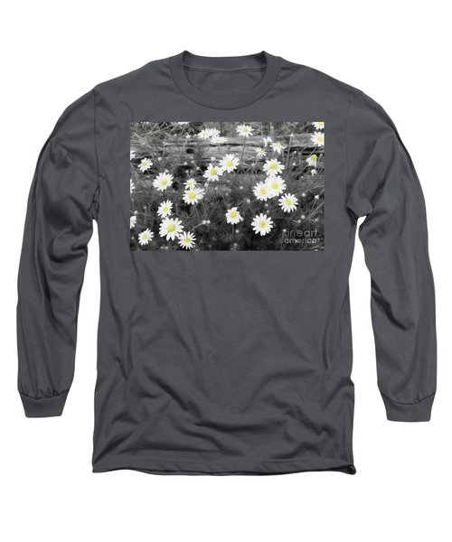Long Sleeve T-Shirt featuring the photograph Daisy Patch by Benanne Stiens