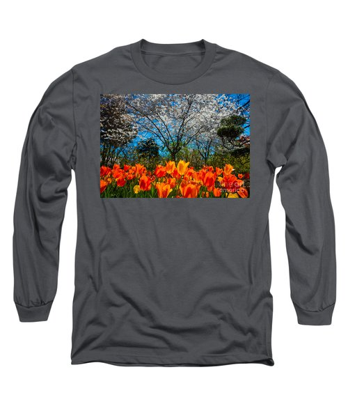 Dallas Arboretum Tulips And Cherries Long Sleeve T-Shirt