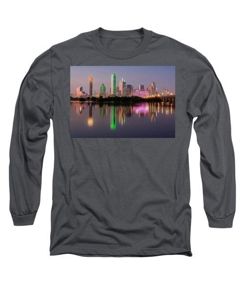 Dallas City Reflection Long Sleeve T-Shirt