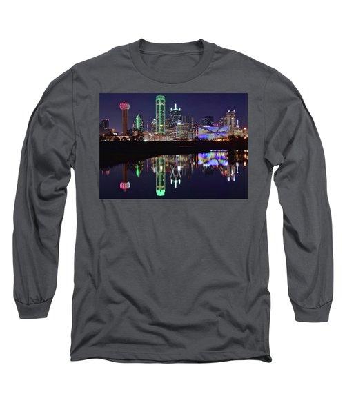 Dallas Reflecting At Night Long Sleeve T-Shirt