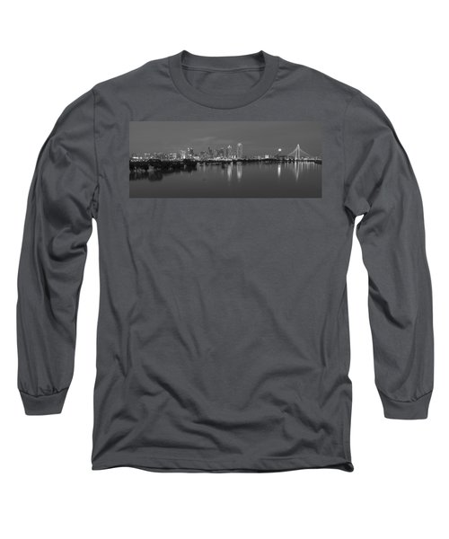 Dallas Skyline Trinity Black And White Long Sleeve T-Shirt