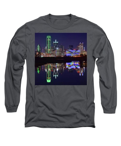 Long Sleeve T-Shirt featuring the photograph Dallas Texas Squared by Frozen in Time Fine Art Photography