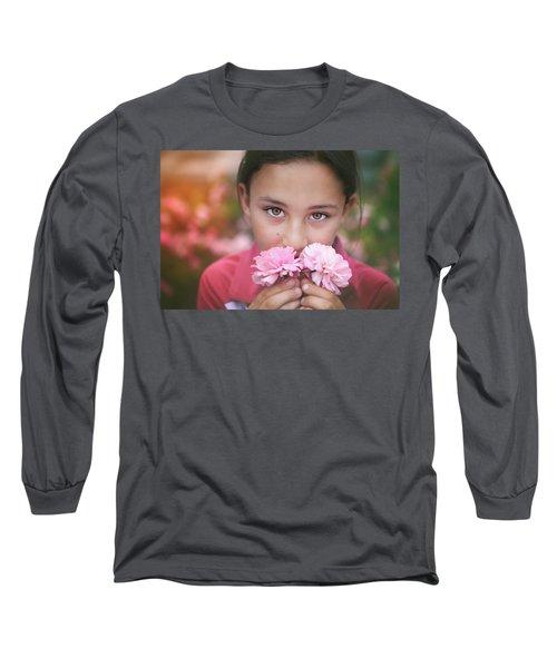 Damask Roses Long Sleeve T-Shirt