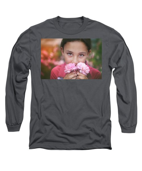 Damask Roses Long Sleeve T-Shirt